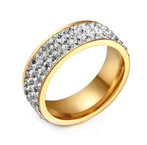Vintage Wedding Rings for Women 3 Row Crystal -  [product_type] - ShaadiMagic