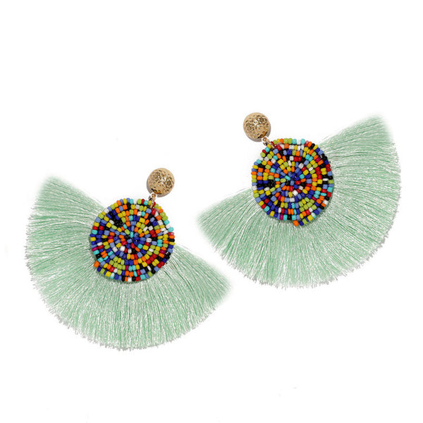 Beads Tassel Earrings Korean Style -  [product_type] - ShaadiMagic