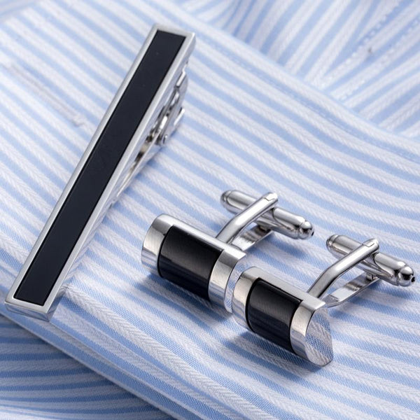 Elegant Tie Clip Cufflinks Set -  [product_type] - ShaadiMagic