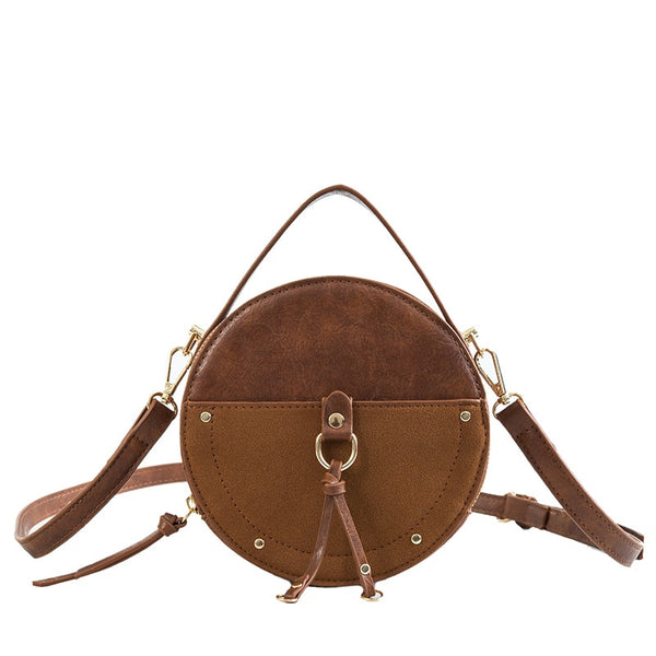 Vintage Scrub Leather Round Designer Bag -  [product_type] - ShaadiMagic