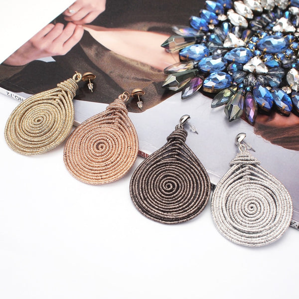 Bohemian Alloy Spiral Round Statement Earrings -  [product_type] - ShaadiMagic
