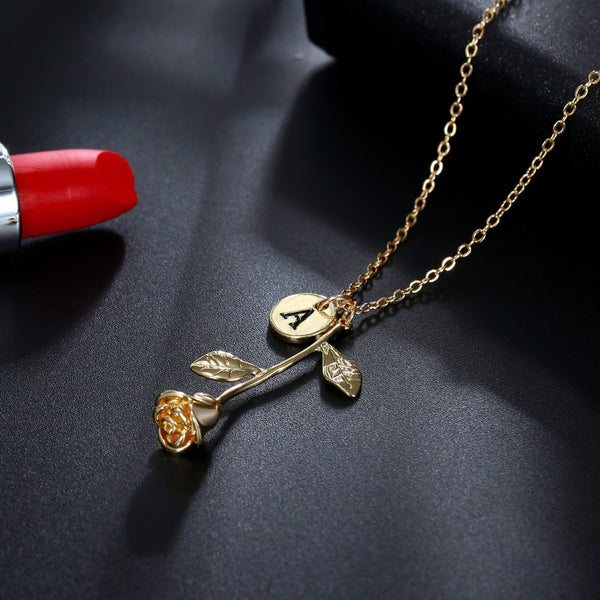 English Letter Pendant Necklace -  [product_type] - ShaadiMagic