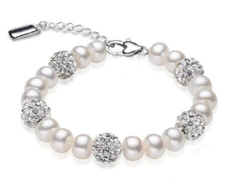 Natural Freshwater Pearl 925 Sterling Silver Bracelet -  [product_type] - ShaadiMagic
