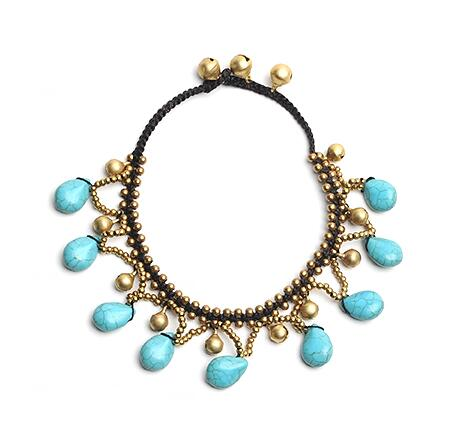 Stone Beads Boho Anklet Jewelry -  [product_type] - ShaadiMagic