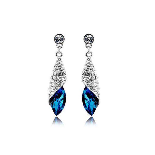 Austrian Element Crystal Necklace Earrings Jewelry Set -  [product_type] - ShaadiMagic