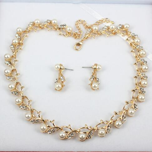 Pearl Necklace Earring Jewelry Set -  [product_type] - ShaadiMagic