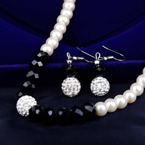 Simulated Pearl Jewelry Earrings Necklace Bracelet -  [product_type] - ShaadiMagic