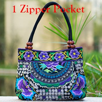 Vintage Flower Embroidery Boho Handbag -  [product_type] - ShaadiMagic