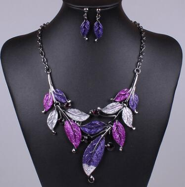 Classic Colorful Alloy Necklace Earrings -  [product_type] - ShaadiMagic