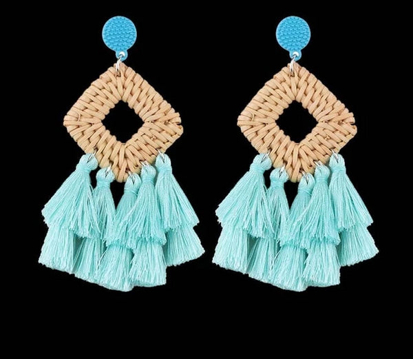 Large Tassel Fringe Earrings -  [product_type] - ShaadiMagic