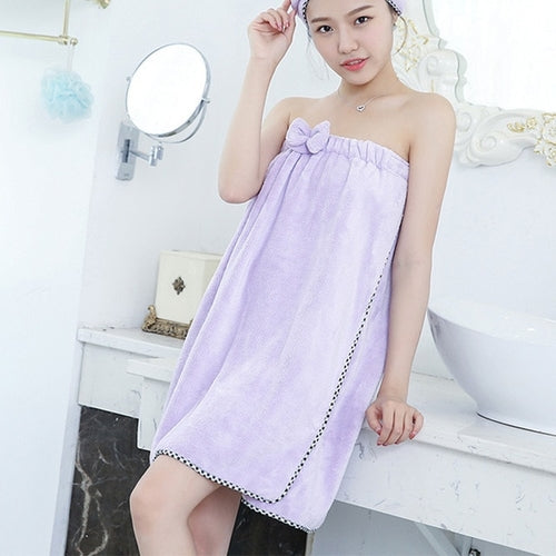 Polyester Cotton Women Bathroom Towel