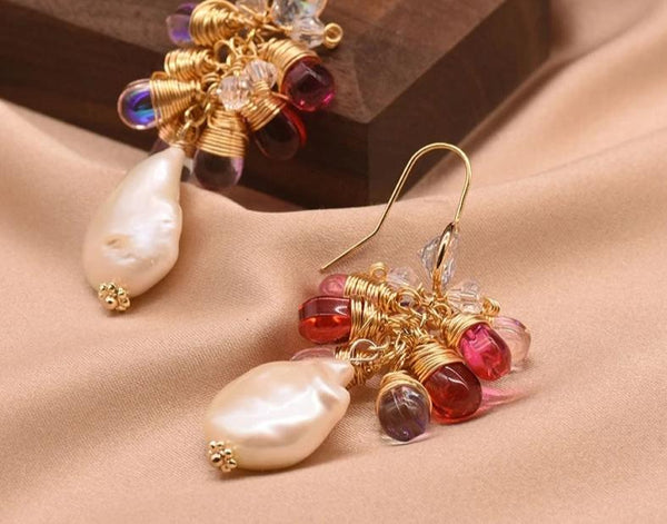 Natural Baroque  Korean Pearl Earrings