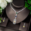 Zirconia Bridal Jewelry Set Square Shape