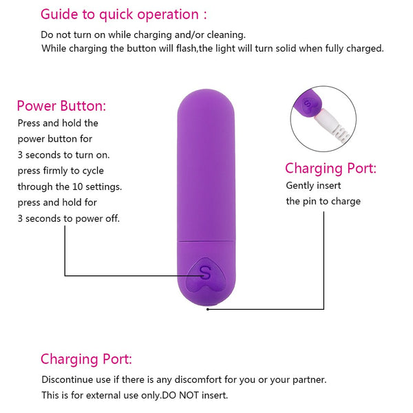 10 Speeds Mini Small Bullet Vibrator -  200001516 - ShaadiMagic