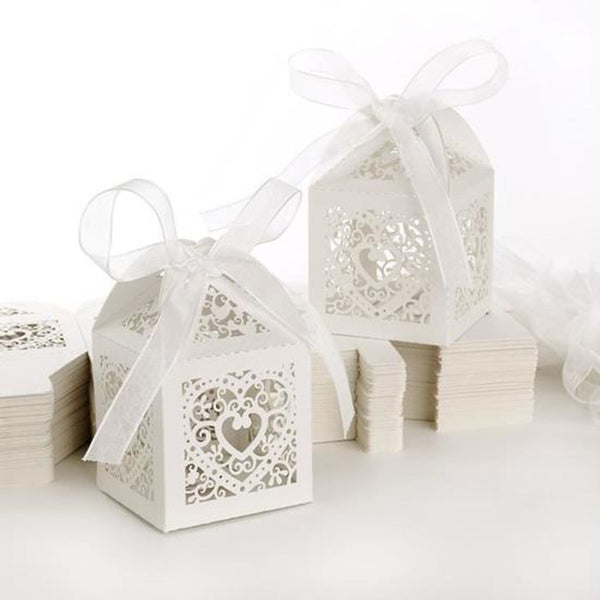 100 Pc. Heart Carriage Favors Candy Boxes -  200222143 - ShaadiMagic