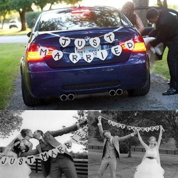 "Car Garland ""JUST MARRIED"" -  200220143 - ShaadiMagic"