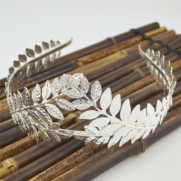 Leaf Style Party Crown Bridal Tiara -  100007319 - ShaadiMagic