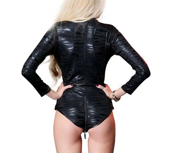 Open Crotch Double Zipper Party Bodysuit -  200001800 - ShaadiMagic