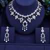 5 Colors Cubic Ziconia Bridal Jewelry Set