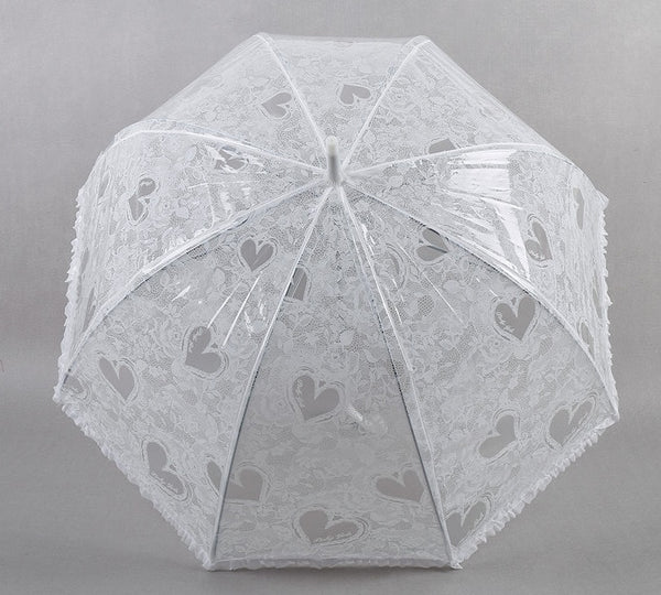 White Lace Wedding Umbrella Handmade -  100004777 - ShaadiMagic
