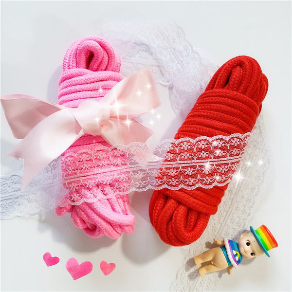Pink and Red Soft Twisted Ropes -  200345142 - ShaadiMagic