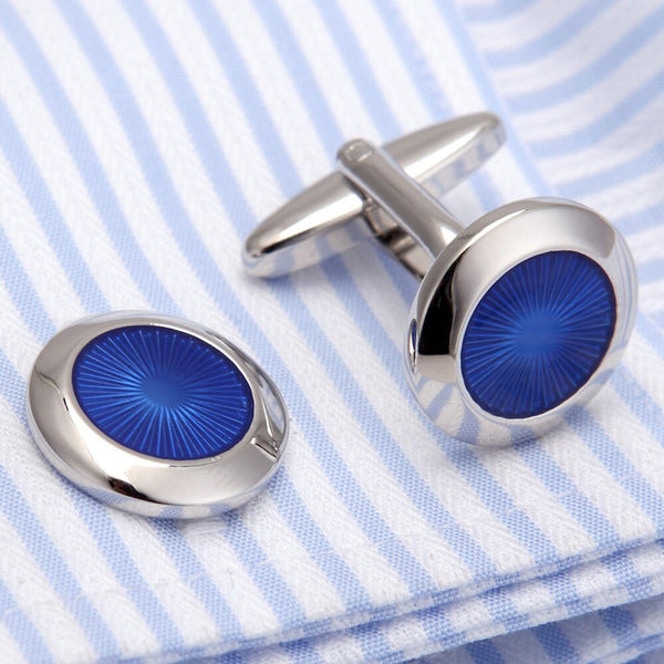 Blue Luxury French Cuff Link -  200000175 - ShaadiMagic