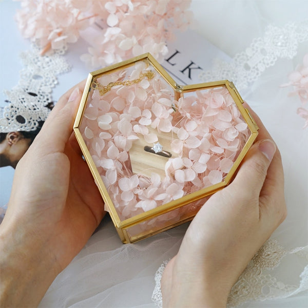 Heart Geometric Ring Box for Wedding -  200222143 - ShaadiMagic