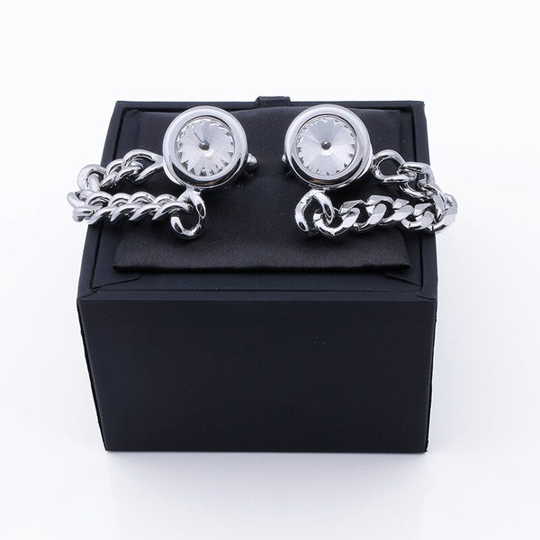 Luxury Cuff links with Chain -  200000175 - ShaadiMagic