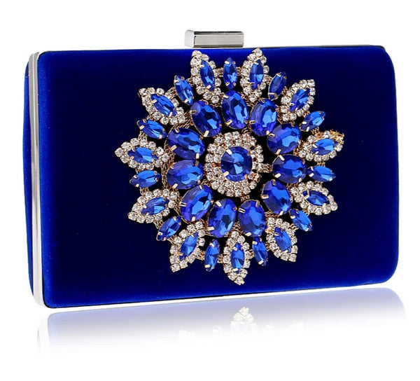 Flower Rhinestones Women Handbag -  100002856 - ShaadiMagic