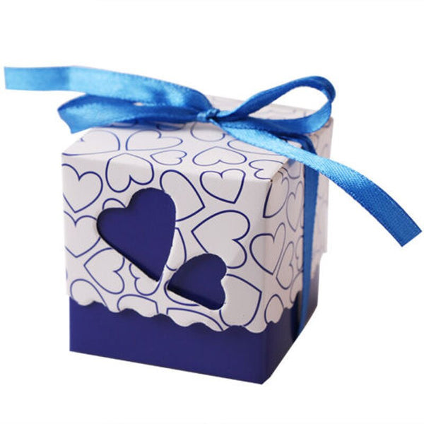 10 Pc. Heart Shaped Ribbon Candy Boxes -  200223144 - ShaadiMagic