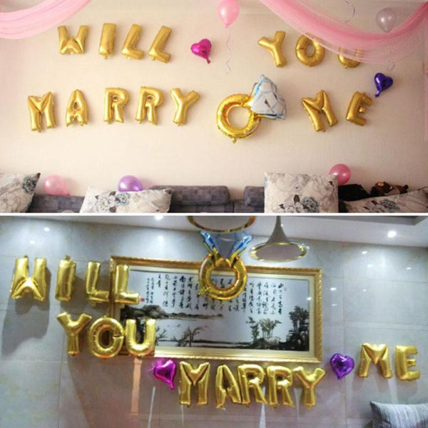 Will You Marry Me Foil Balloons -  200218144 - ShaadiMagic