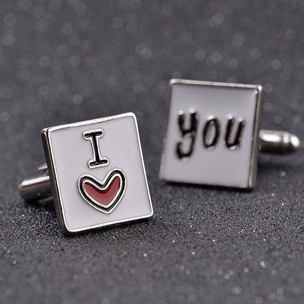 I Love You CuffLinks -  200000175 - ShaadiMagic