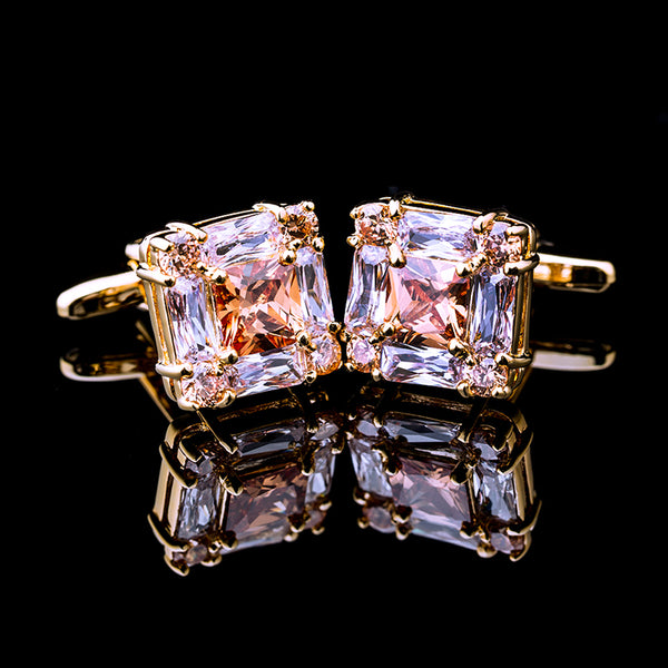 Square Gold Luxury Cufflinks -  200000175 - ShaadiMagic