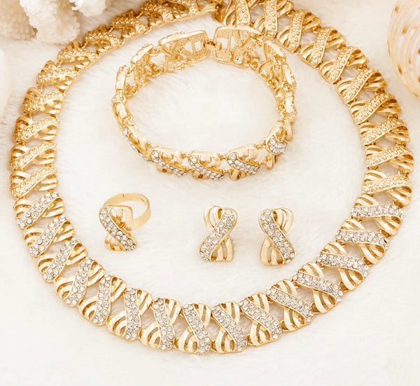 African Bead Gold Plated Dubai Style Jewelry -  100007324 - ShaadiMagic