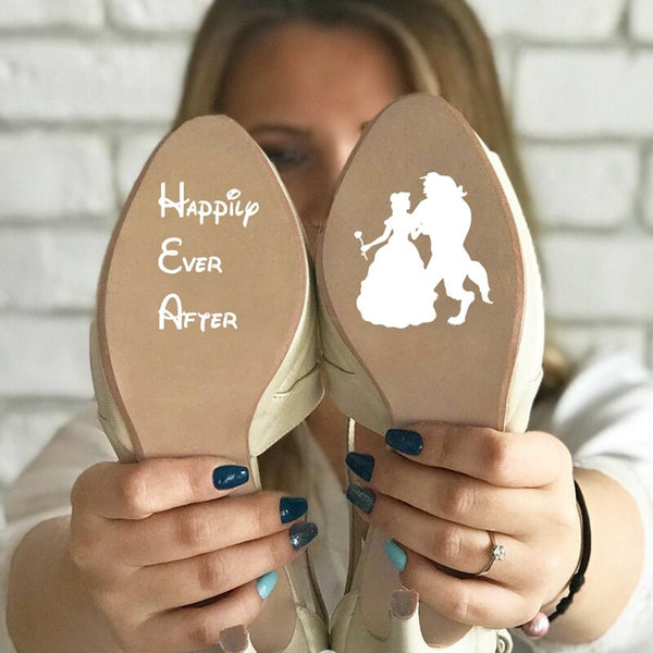 Happily Ever After Wedding Shoe Sticker -  200001461 - ShaadiMagic