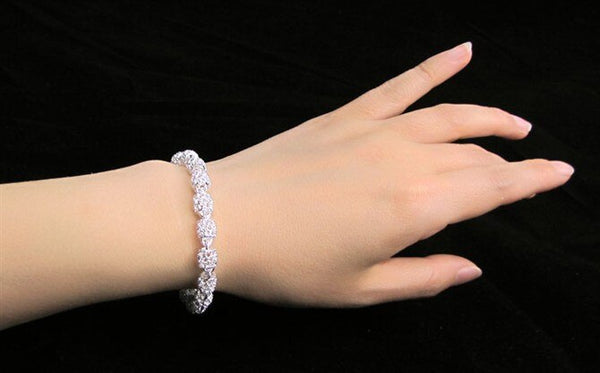 Luxury Sterling Silver Wedding Bracelet -  200001687 - ShaadiMagic