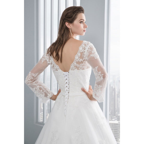 Low Back A-line Wedding Gown -  32005 - ShaadiMagic