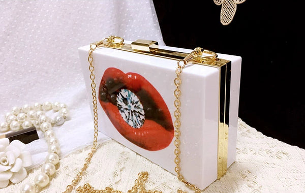 Diamond Lip Evening Clutch -  100002856 - ShaadiMagic