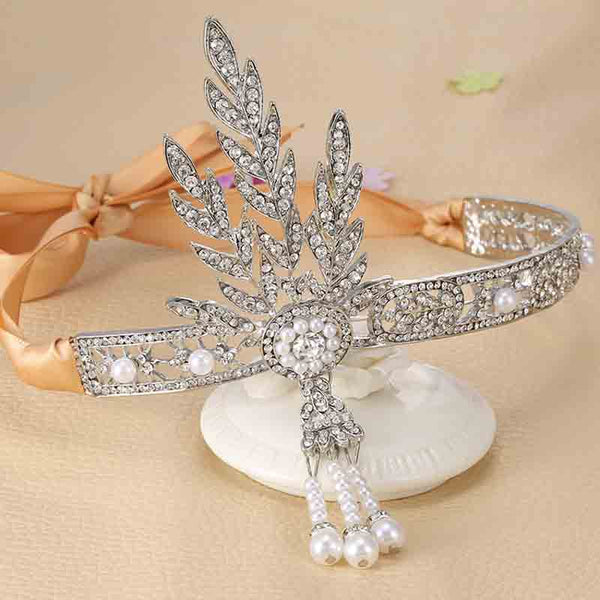 Crystal Pearl Ring Bracelet & Tiara Crowns