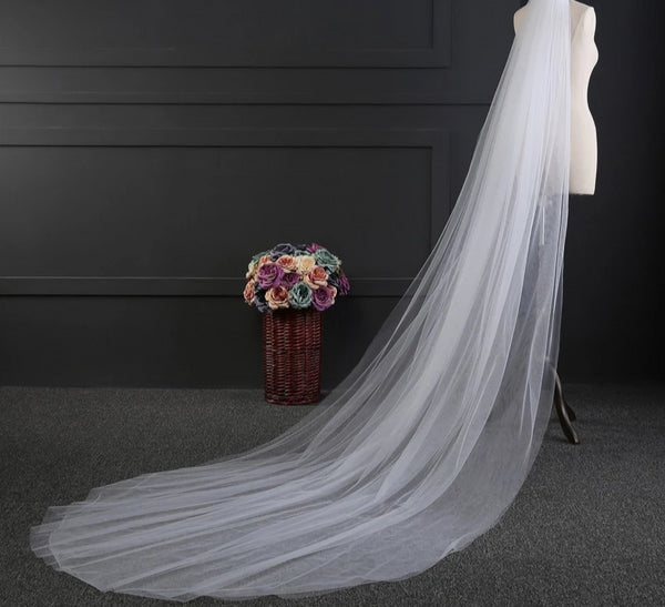 3 Meters 2 Layer Wedding Veil -  32002 - ShaadiMagic