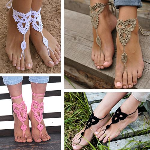 Barefoot Cotton Anklet Crochet -  200000141 - ShaadiMagic