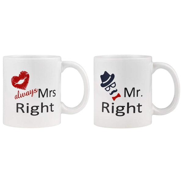 Couple Coffee Mug Mr Right & Mrs Right -  100003290 - ShaadiMagic