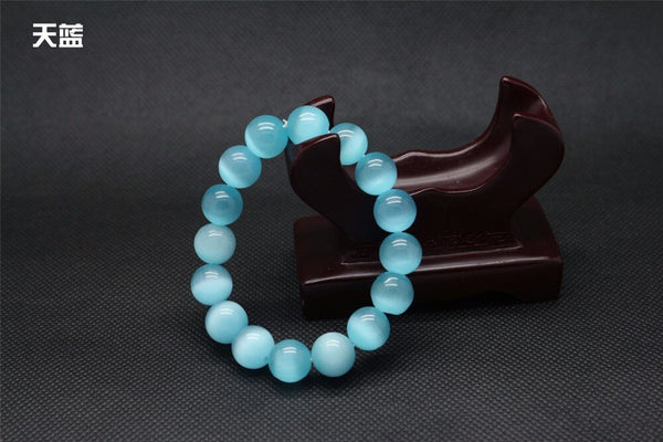 Blue Opal Natural Stone Beads Bracelet -  200000147 - ShaadiMagic