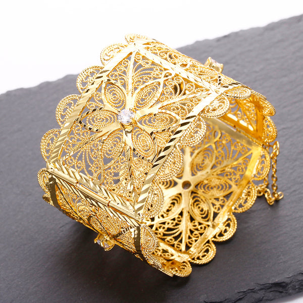 Wide Luxury Big Wedding Bangle Bracelet -  200000146 - ShaadiMagic