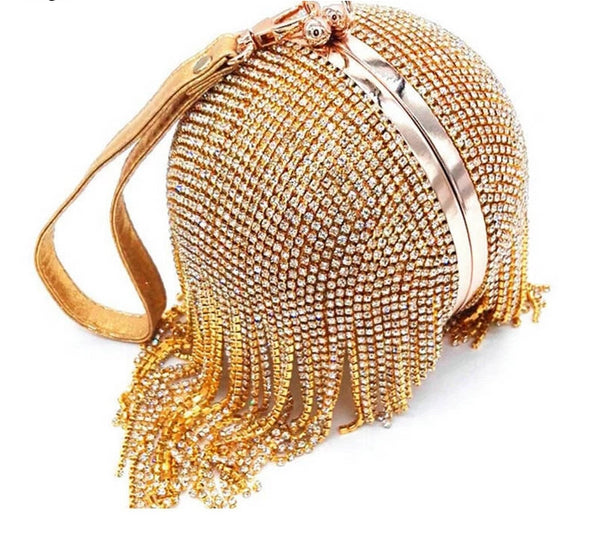 Crossbody Round Ball Wrist Bag Clutch -  100002856 - ShaadiMagic