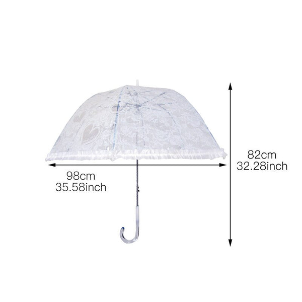 Arched Mushroom Lace Transparent Umbrella -  100004777 - ShaadiMagic