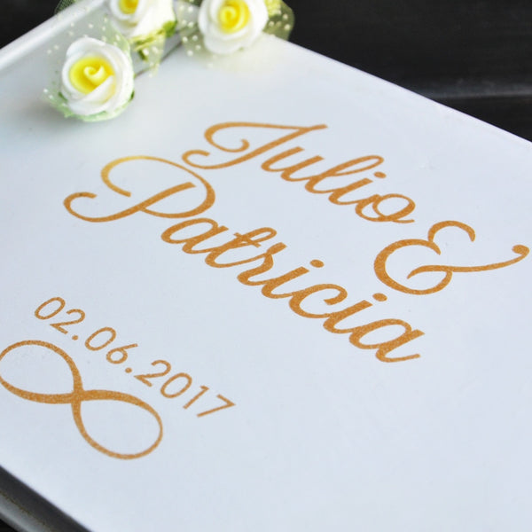 Guest Book Personalized Names & Date