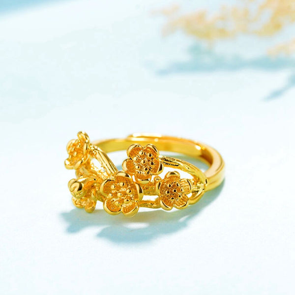 Flower Shaped Exquisite Bracelet Bangle & Ring -  200000146 - ShaadiMagic
