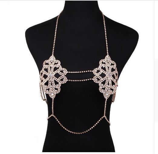Crystal Body Chain Sexy Women Necklace -  100007299 - ShaadiMagic
