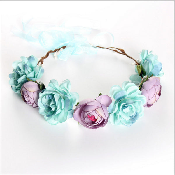 Flower Hairband Wedding Party Garland -  200220143 - ShaadiMagic